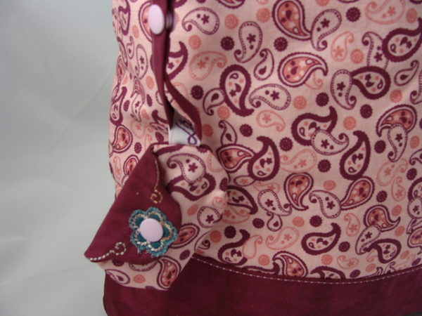 "Tasche ""Ingrid"" – Paisley, lila"