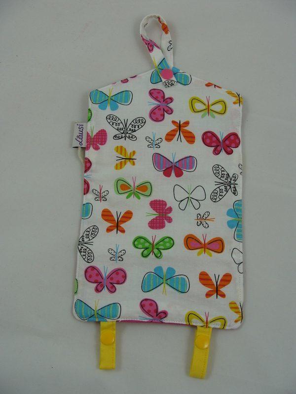 Haarklammer Täschchen Schmetterlinge