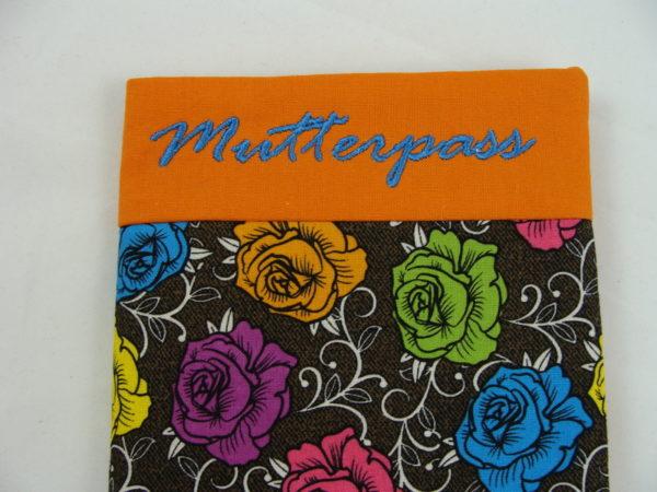 Mutterpass Hülle – Rosen, orange