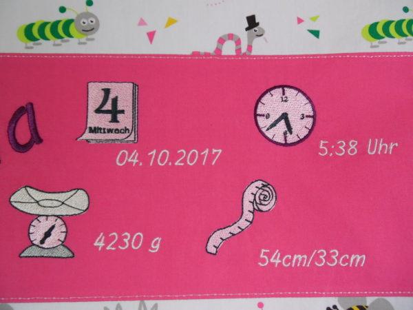 Geburtskissen rosa Tiere
