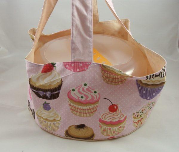 """Kuchentasche """"Molly"""" – Muffins rosa, sand"""